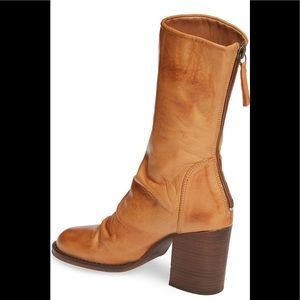 Free People brown leather booties